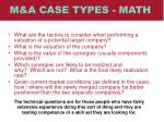 m a case types math