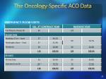 the oncology specific aco data