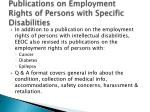 publications on employment rights of persons with specific disabilities