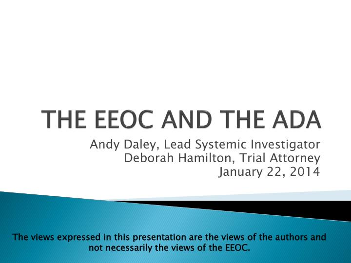 the eeoc and the ada n.