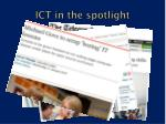 ict in the spotlight