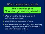 what universities can do