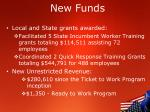 new funds