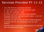 services provided py 11 12