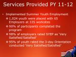 services provided py 11 122