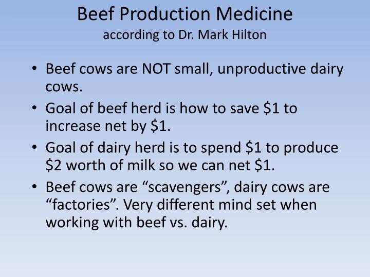 Beef Production Medicine