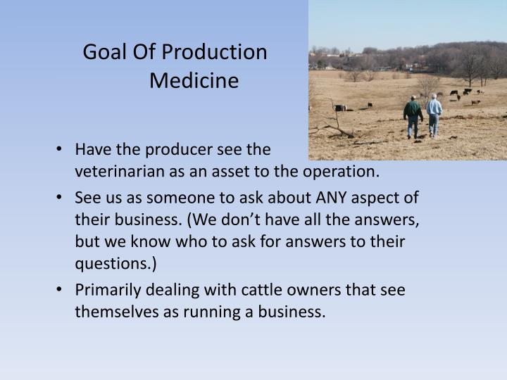 Goal Of Production