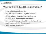 why work with leadthem consulting
