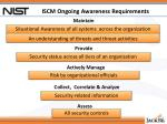 iscm ongoing awareness requirements