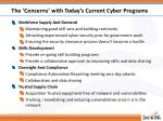 the concerns with today s current cyber programs