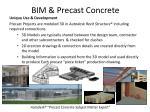 bim precast concrete