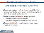 analyze prioritize overview