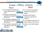 cause effect activity