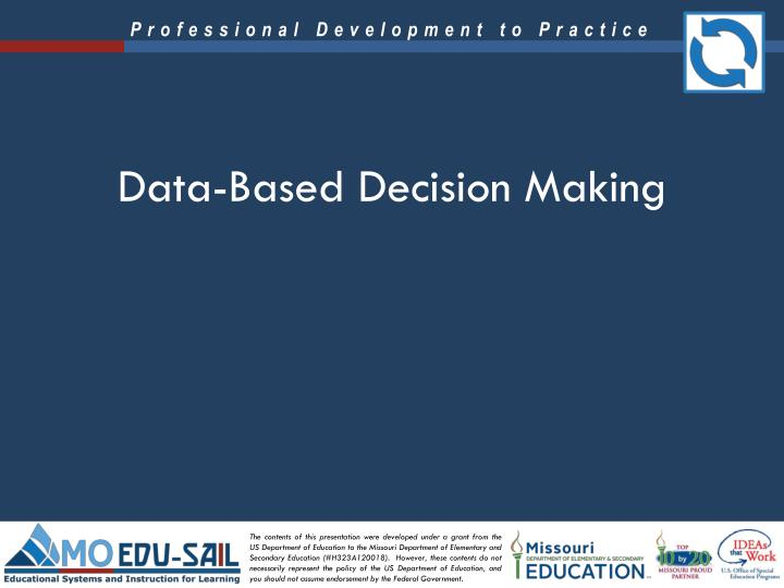 data based decision making n.