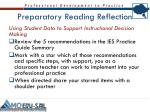 preparatory reading reflection