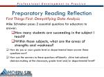 preparatory reading reflection1