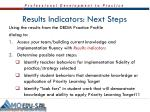 results indicators next steps