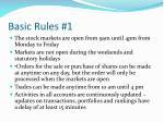 basic rules 1