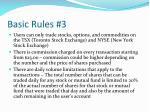 basic rules 3