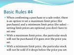 basic rules 4
