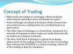 concept of trading