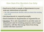 how state fire marshals can help