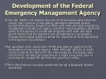 development of the federal emergency management agency4