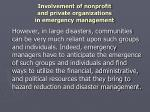 involvement of nonprofit and private organizations in emergency management8