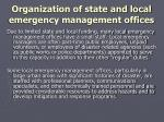 organization of state and local emergency management offices2