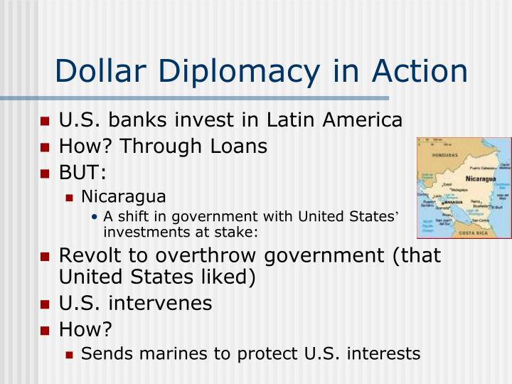 Dollar Diplomacy in Action
