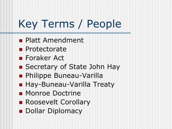 Key Terms / People