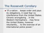 the roosevelt corollary1