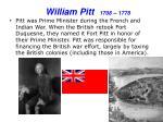 william pitt 1708 1778