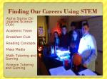 finding our careers using stem1