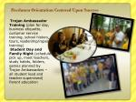 freshmen orientation centered upon success