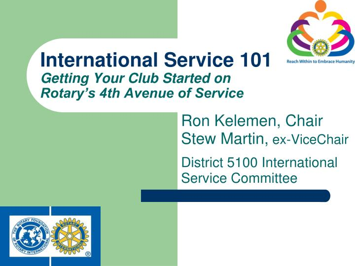 international service 101 getting your club started on rotary s 4th avenue of service n.