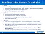 benefits of using semantic technologies