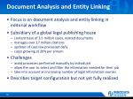 document analysis and entity linking