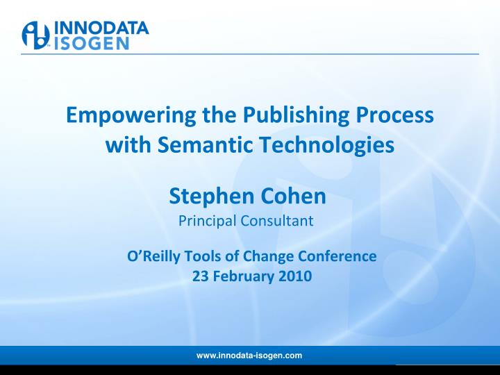 empowering the publishing process with semantic technologies n.