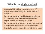 what is the single market