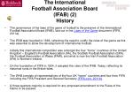 the international football association board ifab 2 history