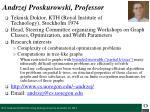 andrzej proskurowski professor