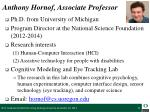 anthony hornof associate professor