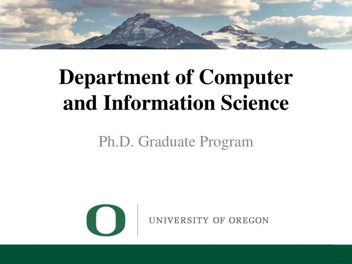 department of computer and information science n.