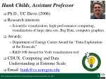 hank childs assistant professor