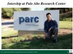 intership at palo alto research center