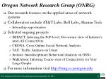 oregon network research group onrg