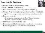 zena ariola professor