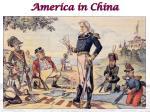 america in china