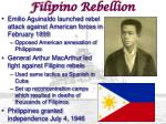 filipino rebellion